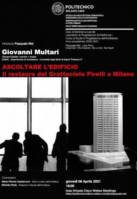 Ascoltare l'edificio – Il restauro del Grattacielo Pirelli a Milano