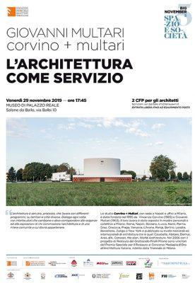 L'architettura come servizio Genova 29 – 11 – 2019