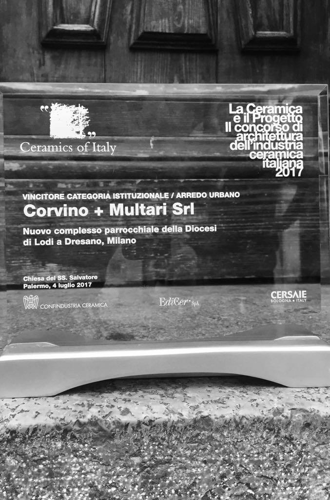 Premio ceramica e progetto 2018 - Complesso parrocchiale della diocesi di lodi a Dresano