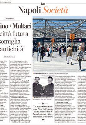 """Corvino + Multari """"La città futura somiglia all'antichità"""" –  La Repubblica Maggio 2020"""